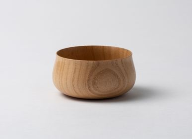 Bowls - Paulownia Wood Small Bowl <FLOWER> - PAULOWNIA FURNITURE AZUMA CO.,LTD.