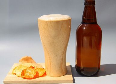 Mugs - Paulownia Beer Glass - PAULOWNIA FURNITURE AZUMA CO.,LTD.