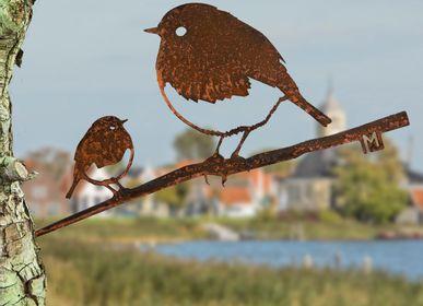 Decorative objects -  Metalbird Robin Duo - METALBIRD