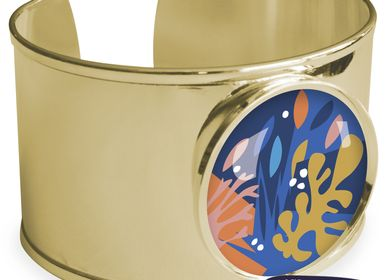 Jewelry - Large bangle fully gilded with fine gold Les Parisiennes Matisse - LES PARISIENNES D'EMILIE FIALA