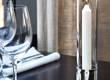 Design objects - Restaurant collection 1 - Candleholder KATTVIK with storm glass - KATTVIKDESIGN