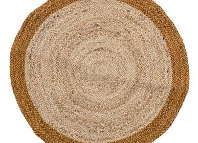 Other caperts - Handwoven round jute rug with contrasting edge - LA MAISON DE LILO