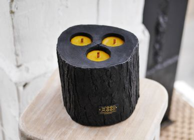 Decorative objects - VOLCANO 3-in-1 | Interior candle made of burnt wood, beeswax and natural oils | Huge candle - WOOD MOOD