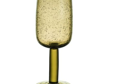 Stemware - Water Drop Green Glass Deco  48 cm - TABLE PASSION