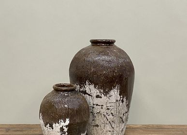 Pottery - Old White Washed Chinese Jars - THE SILK ROAD COLLECTION