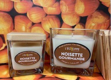 Bougies - Bougies parfumées Noisettes gourmandes  - L'ECHOPPE BUISSONNIERE