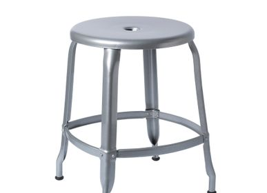 Chairs for hospitalities & contracts - TABOURET NICOLLE®/ NICOLLE METAL STOOL H45cm - CHAISES NICOLLE