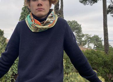 Scarves - SILK SCARF/SNOOD - MAISON BE PARISIAN