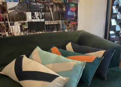 Fabric cushions - COTTON CUSHIONS - MAISON BE PARISIAN