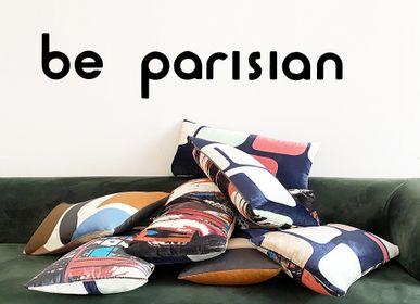 Fabric cushions - SILK VELVET CUSHIONS - MAISON BE PARISIAN