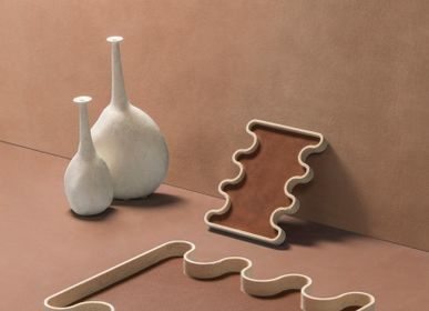 Design objects - OSSICLE LEATHER & MARBLE TRAYS - GIOBAGNARA