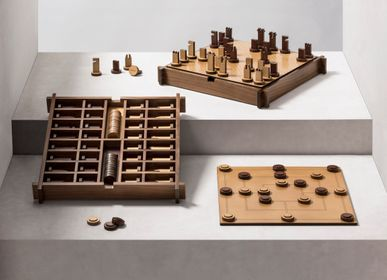 Design objects - STRUCTURA TRIPLE GAME BOX CHESS | DRAUGHTS | MUEHLE - GIOBAGNARA
