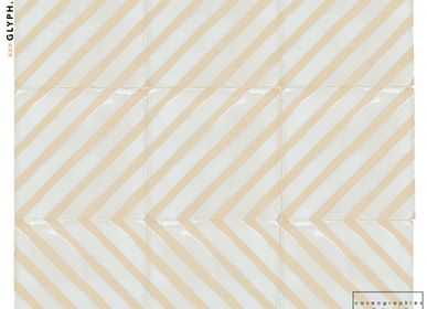 Other wall decoration - STRIPE- handmade terracotta tile - covering, tiling  - COSMOGRAPHIES