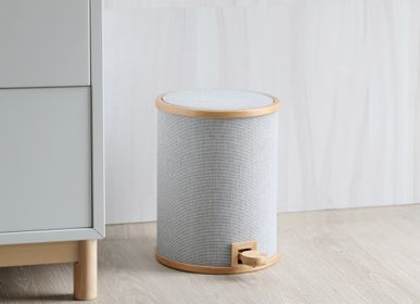 Office furniture and storage - POMP Pedal Trash Bin - Fabric veneer - GUDEE