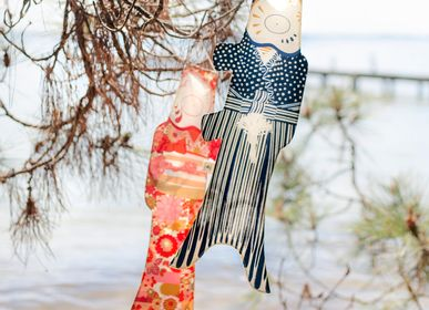 Decorative objects - Koinobori Kimono Girl (KOI2.16/S) - MADAME MO