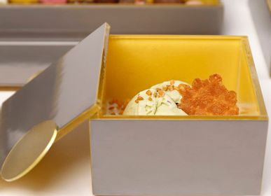 Caskets and boxes - Small Square Bento Box in Pantone Colors 2021 - MYGLASSSTUDIO
