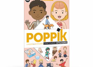 Poster - Poster Éducatif + 49 Stickers LE CORPS HUMAIN  - POPPIK