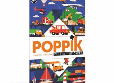 Poster - Poster éducatif + 44 stickers LES VÉHICULES (3 et 7 ans)  - POPPIK