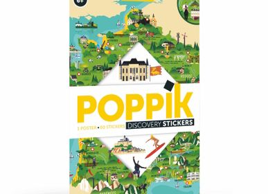 Affiches - Poster éducatif + 88 stickers CARTE DE FRANCE (6 - 12 ANS)  - POPPIK