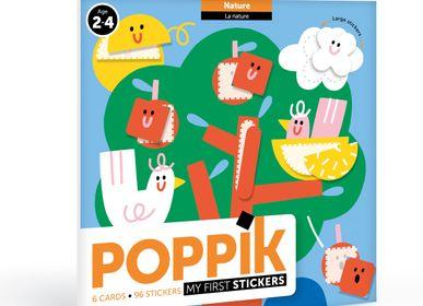 Poster - 6 cartes + 96 gommettes DANS LA NATURE  - POPPIK