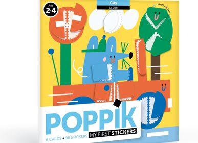Poster - 6 cartes + 96 gommettes DANS LA VILLE  - POPPIK