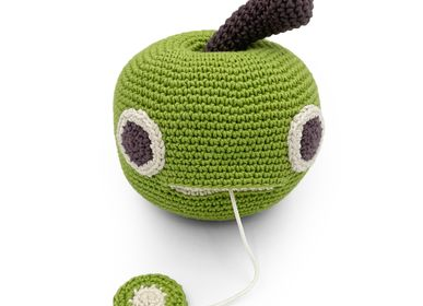 Toys - RINGO APPLE - MUSIC BOX 100% ORGANIC COTTON - MYUM - THE VEGGY TOYS