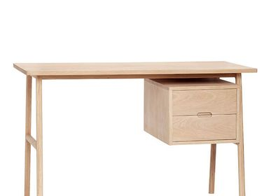 Desks - Desk w/drawers, oak, FSC, nature - HÜBSCH