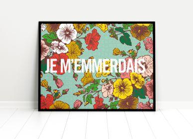 Autres décorations murales - Je m'emmerdais - PIECE & LOVE