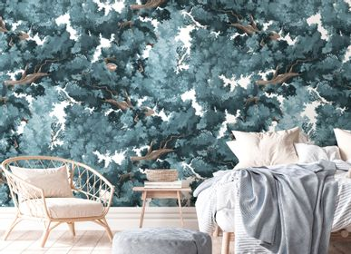 Other wall decoration - Wallpanel Bushu Bleu Takoizu - PAPERMINT