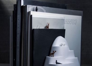 Cadeaux - Serre-livres et marque-page: Livre Mountain: Livre Iceberg: Signet: 100% recyclable. - QUALY DESIGN OFFICIAL