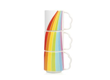 Coffee and tea - Bitten- Over the Rainbow Mugs, set of 3 stackable. - BITTEN