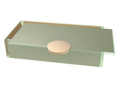 Caskets and boxes - Small Rectangle Bento Box, gray - MYGLASSSTUDIO
