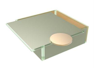 Coffrets et boîtes - Grande boîte à Bento carrée, gris - MYGLASSSTUDIO