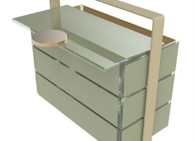 Caskets and boxes - Small Rectangular Picnic Basket, gray - MYGLASSSTUDIO