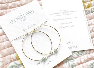 Jewelry - 'Aventurine' Hoop Earrings - LES MOTS DOUX
