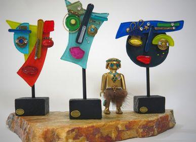 Sculptures, statuettes et miniatures - Statuette LES MINIS - NATHALIE BORDERIE