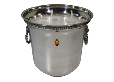 Decorative objects - SMALL SILVER METAL BUCKET CANDLE XL - LUXA NATURA