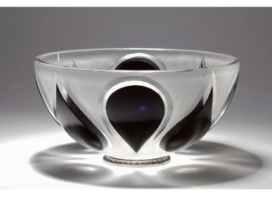 Objets design - Coupe Cristal taillé - Black Drop of Water - CRISTAL BENITO