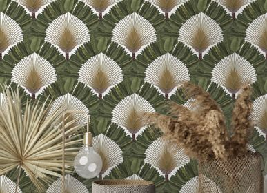 Other wall decoration - Wallpaper Ravinala Bronze - PAPERMINT