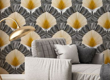 Other wall decoration - Wallpaper Ravinala Argent - PAPERMINT