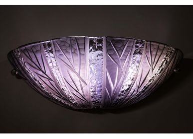 Design objects - Wall light Cut Crystal - CHIPS LEAF AMETHYST - CRISTAL BENITO