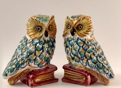 Decorative objects - Owl Bookends - AGATA TREASURES