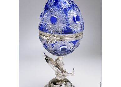 Design objects - Caviar Egg - Sturgeon Egg Cobalt - CRISTAL BENITO