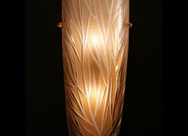 Design objects - Cut Crystal Wall Light - Amber Leave - CRISTAL BENITO