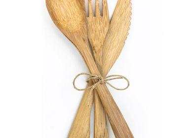 Fourchettes - 3 couverts en bambou réutilisables - PANDA PAILLES