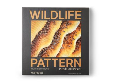Gifts - Puzzle - Bee, Wildlife Pattern - PRINTWORKS