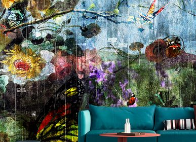 Hotel bedrooms - Wallcovering Butterfly Garden - LA AURELIA DESIGN