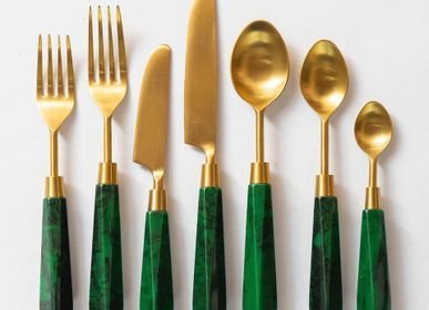 Cutlery set - Emerald Flatware Set ( Set Of 7 Pcs) - ISHELA EUROPA LDA
