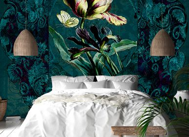 Hotel bedrooms - Wallcovering Jardin - LA AURELIA DESIGN