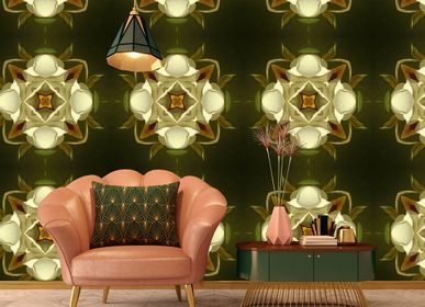Hotel bedrooms - Wallcovering Lily of the Valley - LA AURELIA DESIGN
